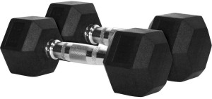 Gymnasio Rubber Coated Hex (2.5 KG Pair) Fixed Weight Dumbbell