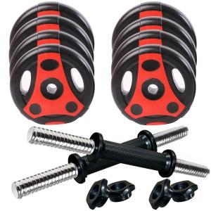Kobo 8 KG Combo Home Gym Weight Set Adjustable Dumbbell