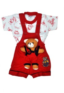 636709917 Belle Girl Romper For Boys Printed Cotton Red available at Flipkart for Rs .496