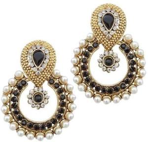 Penny Jewels Pearl Alloy Chandbali Earring