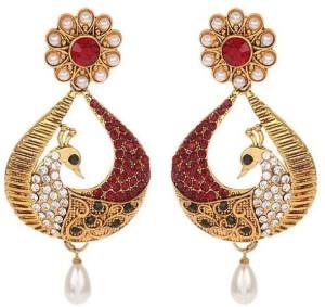 Jewels Gold Cubic Zirconia Alloy Huggie Earring, Earring Set