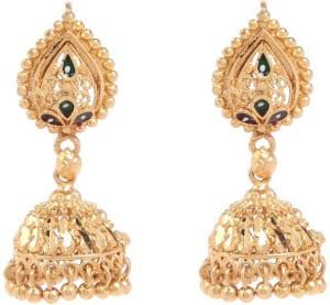 GoldNera Sushma Brass Jhumki Earring