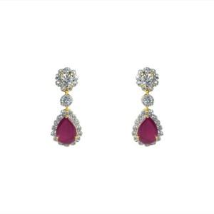 MP Fine Jewellery Elegant Pair Of Tops Zircon Alloy Drop Earring