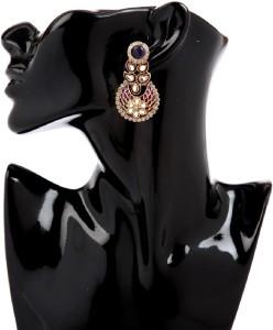 GoldNera Floral Meena Alloy Drop Earring