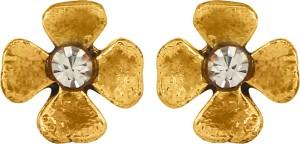 GoldNera Floral Design Alloy Stud Earring
