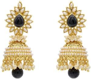Jewels Capital Diva Style Pearl Alloy Jhumki Earring