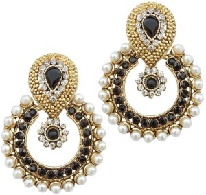 Jewels Capital Diva Style Zircon Alloy Chandbali Earring