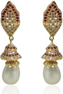 MP Fine Jewellery Elegant Pair Of Tops Design For Women Zircon Alloy Drop Earring