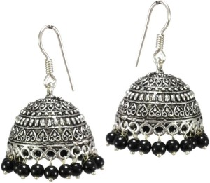 5f065fc3d1 V L Impex Hot Fashion Black Beads Oxidized Alloy Jhumki Earring Best Price  in India | V L Impex Hot Fashion Black Beads Oxidized Alloy Jhumki Earring  ...