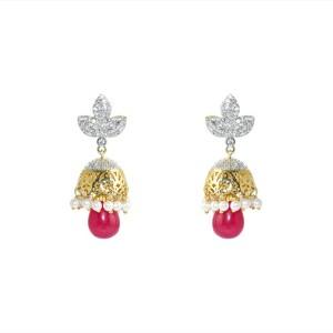 MP Fine Jewellery Artistic Pair Of Tops Zircon Alloy Drop Earring