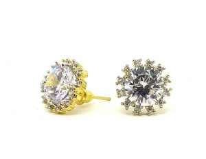 GoldNera AD White Storm Alloy Stud Earring
