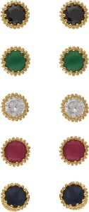 Aarushi Contemporary Cubic Zirconia Alloy Earring Set