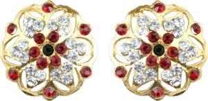 Waama Jewels Traditional Festive Pearl Brass Stud Earring