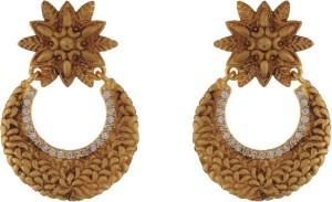Aarushi Lovable Cubic Zirconia Alloy Chandbali Earring