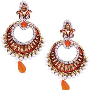 Kaizer Jewelry Party & Wedding Sparkle Alloy Chandbali Earring