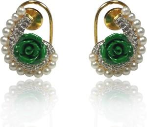 MP Fine Jewellery Designer Rose Tops For Women Zircon Alloy Stud Earring
