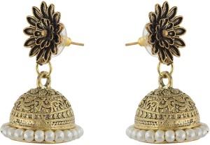 Subharpit Pearl Design Indian Long Hanging Dangle Earring for Woman /& Girls
