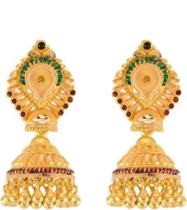 Paliwal Jewelers Sceptre Workwear Yellow Gold 22kt Jhumki Earring