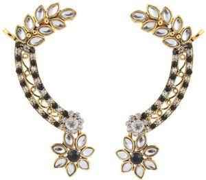9cfd8c14e Kriaa Gold Finish Kundan Floral Black 1305626 Alloy Cuff Earring Best Price  in India | Kriaa Gold Finish Kundan Floral Black 1305626 Alloy Cuff Earring  ...