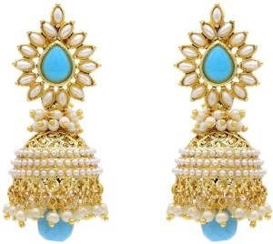 Jewels Capital Divca Style Pearl Alloy Jhumki Earring