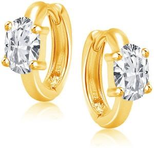 VK Jewels Single Stone Cubic Zirconia Alloy Huggie Earring