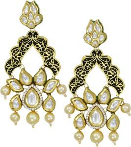 Zaveri Pearls Graceful Kundan Brass Dangle Earring