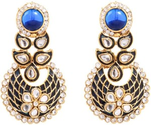 GoldNera Kundan Meena Alloy Drop Earring
