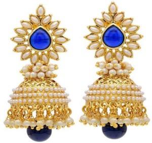 Angel In You Diva Style Pearl Alloy Jhumki Earring