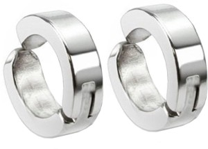 9ce8085b8a6ac Men Style Non-Pireced 316L Clip On Stainless Steel Hoop Earring
