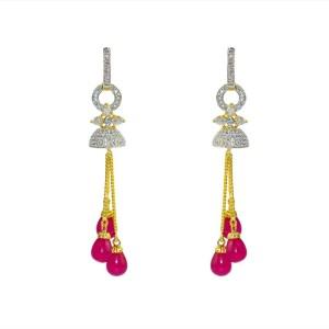 MP Fine Jewellery Real Look Designer Tops For Women Zircon Alloy Drop Earring