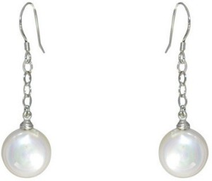 MP Fine Jewellery Awesome Tops Pearl Alloy Dangle Earring