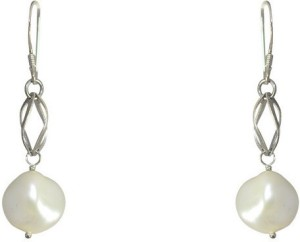 MP Fine Jewellery Awesome Pair Of Tops Pearl Alloy Dangle Earring