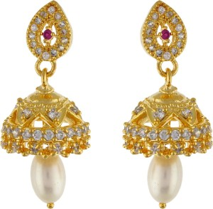 Aarushi Princess Cubic Zirconia Alloy Jhumki Earring