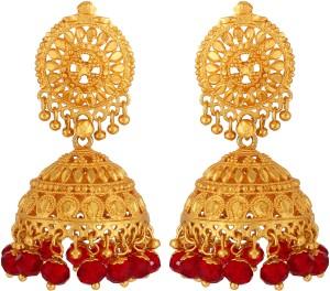 GoldNera Bead Alloy Jhumki Earring