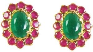 Vinayak color cluster Onyx Alloy Stud Earring