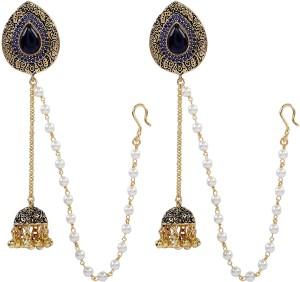 Sri Shringarr Fashion EAR546ON Pearl Copper Dangle Earring, Drop Earring, Jhumki Earring