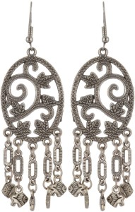 Subharpit Fish Flower Combination Lovers Metal Dangle Earring for Woman /& Girls