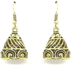 GoldNera Antique Lusture Alloy Jhumki Earring
