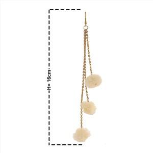 ae1c7832d Zephyrr Zephyrr Fashion Hook Dangle Tassel Long Funky Earrings with Pompoms  for Girls Alloy Dangle Earring