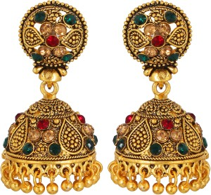 GoldNera Antique Treasure Alloy Jhumki Earring