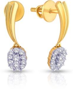 malabar gold and diamonds e71692 yellow gold 18kt diamond drop
