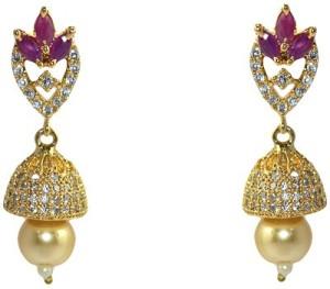 MP Fine Jewellery Exclusive Pair Of Tops Zircon Alloy Jhumki Earring