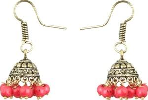 Waama Jewels Traditional Festive Pearl Brass Jhumki Earring