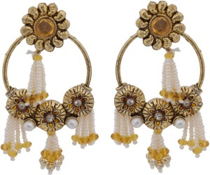 Hyderabadi Abhushan Pearl Alloy Drop Earring