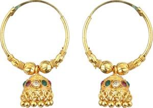 Waama Jewels Traditional Festive Brass Jhumki Earring