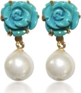 Prisha DSNER9 Pearl Copper Drop Earring