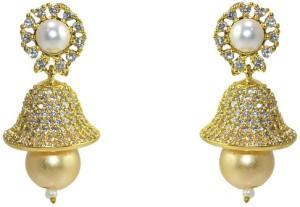 MP Fine Jewellery Designer Tops Zircon Alloy Jhumki Earring