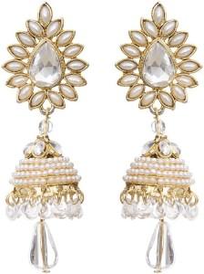 Styylo Fashion Diva Style Pearl Alloy Jhumki Earring