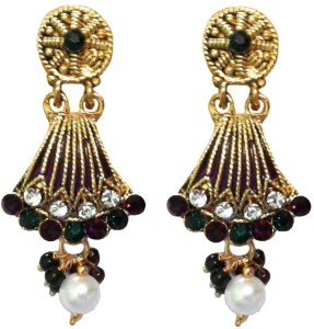 d1f57917d7eef Shreya Collection Spring Sparkle Alloy, Metal Jhumki Earring