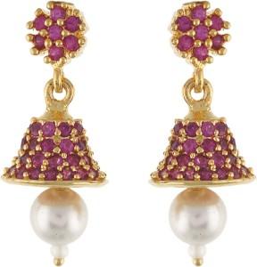 Aarushi Fashion Cubic Zirconia Alloy Jhumki Earring